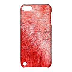 Pink Fur Background Apple Ipod Touch 5 Hardshell Case With Stand