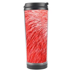 Pink Fur Background Travel Tumbler