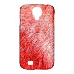Pink Fur Background Samsung Galaxy S4 Classic Hardshell Case (PC+Silicone)