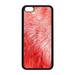 Pink Fur Background Apple iPhone 5C Seamless Case (Black)