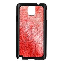 Pink Fur Background Samsung Galaxy Note 3 N9005 Case (Black)