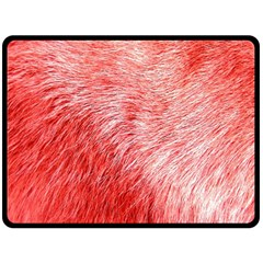 Pink Fur Background Double Sided Fleece Blanket (Large)