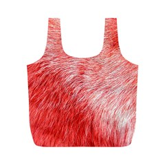 Pink Fur Background Full Print Recycle Bags (M)