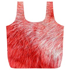 Pink Fur Background Full Print Recycle Bags (L)