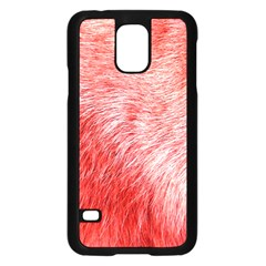 Pink Fur Background Samsung Galaxy S5 Case (Black)