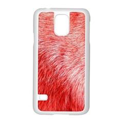 Pink Fur Background Samsung Galaxy S5 Case (white)