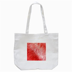 Pink Fur Background Tote Bag (White)