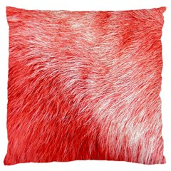 Pink Fur Background Large Flano Cushion Case (Two Sides)
