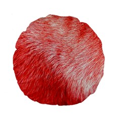 Pink Fur Background Standard 15  Premium Flano Round Cushions