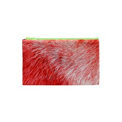 Pink Fur Background Cosmetic Bag (XS)