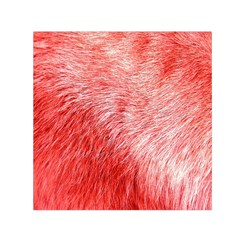 Pink Fur Background Small Satin Scarf (Square)