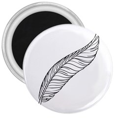 Feather Line Art 3  Magnets