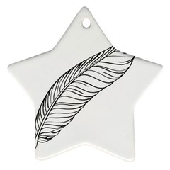 Feather Line Art Ornament (star)