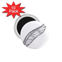 Feather Line Art 1.75  Magnets (10 pack)