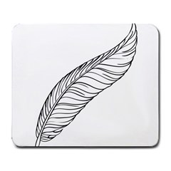 Feather Line Art Large Mousepads
