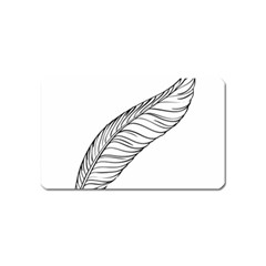 Feather Line Art Magnet (name Card)