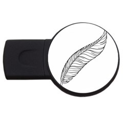Feather Line Art USB Flash Drive Round (1 GB)