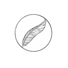 Feather Line Art Hat Clip Ball Marker (4 pack)