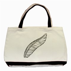 Feather Line Art Basic Tote Bag