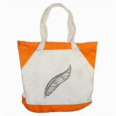 Feather Line Art Accent Tote Bag
