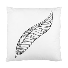 Feather Line Art Standard Cushion Case (one Side)