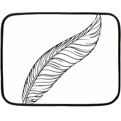 Feather Line Art Fleece Blanket (mini)