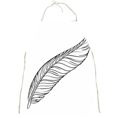 Feather Line Art Full Print Aprons