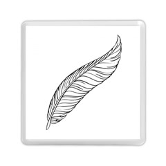 Feather Line Art Memory Card Reader (square)