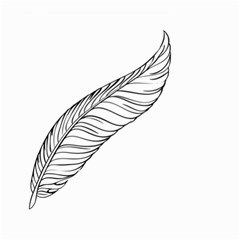 Feather Line Art Small Garden Flag (two Sides)