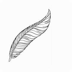 Feather Line Art Large Garden Flag (Two Sides)