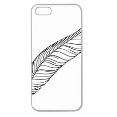 Feather Line Art Apple Seamless iPhone 5 Case (Clear)