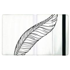Feather Line Art Apple iPad 3/4 Flip Case