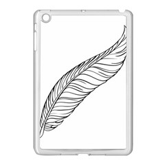 Feather Line Art Apple iPad Mini Case (White)