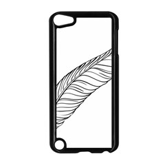 Feather Line Art Apple Ipod Touch 5 Case (black)
