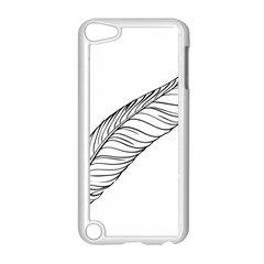 Feather Line Art Apple Ipod Touch 5 Case (white)