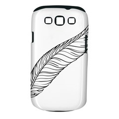 Feather Line Art Samsung Galaxy S III Classic Hardshell Case (PC+Silicone)