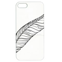 Feather Line Art Apple iPhone 5 Hardshell Case with Stand