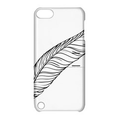Feather Line Art Apple iPod Touch 5 Hardshell Case with Stand