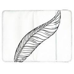 Feather Line Art Samsung Galaxy Tab 7  P1000 Flip Case