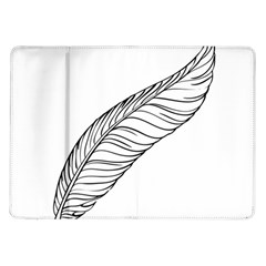 Feather Line Art Samsung Galaxy Tab 10 1  P7500 Flip Case