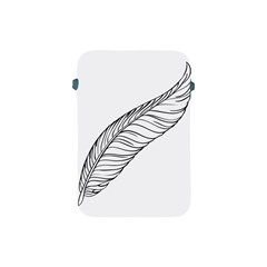 Feather Line Art Apple iPad Mini Protective Soft Cases