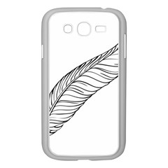 Feather Line Art Samsung Galaxy Grand DUOS I9082 Case (White)