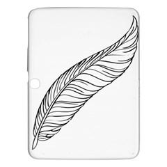 Feather Line Art Samsung Galaxy Tab 3 (10 1 ) P5200 Hardshell Case