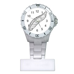 Feather Line Art Plastic Nurses Watch
