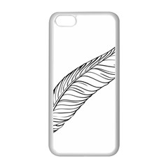 Feather Line Art Apple iPhone 5C Seamless Case (White)