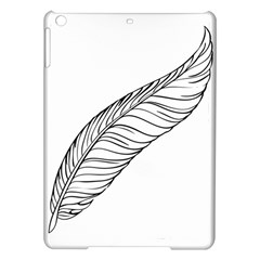 Feather Line Art iPad Air Hardshell Cases