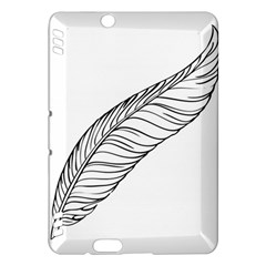 Feather Line Art Kindle Fire HDX Hardshell Case