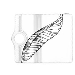 Feather Line Art Kindle Fire HDX 8.9  Flip 360 Case