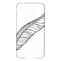 Feather Line Art Samsung Galaxy S5 Back Case (White)