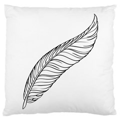 Feather Line Art Standard Flano Cushion Case (One Side)